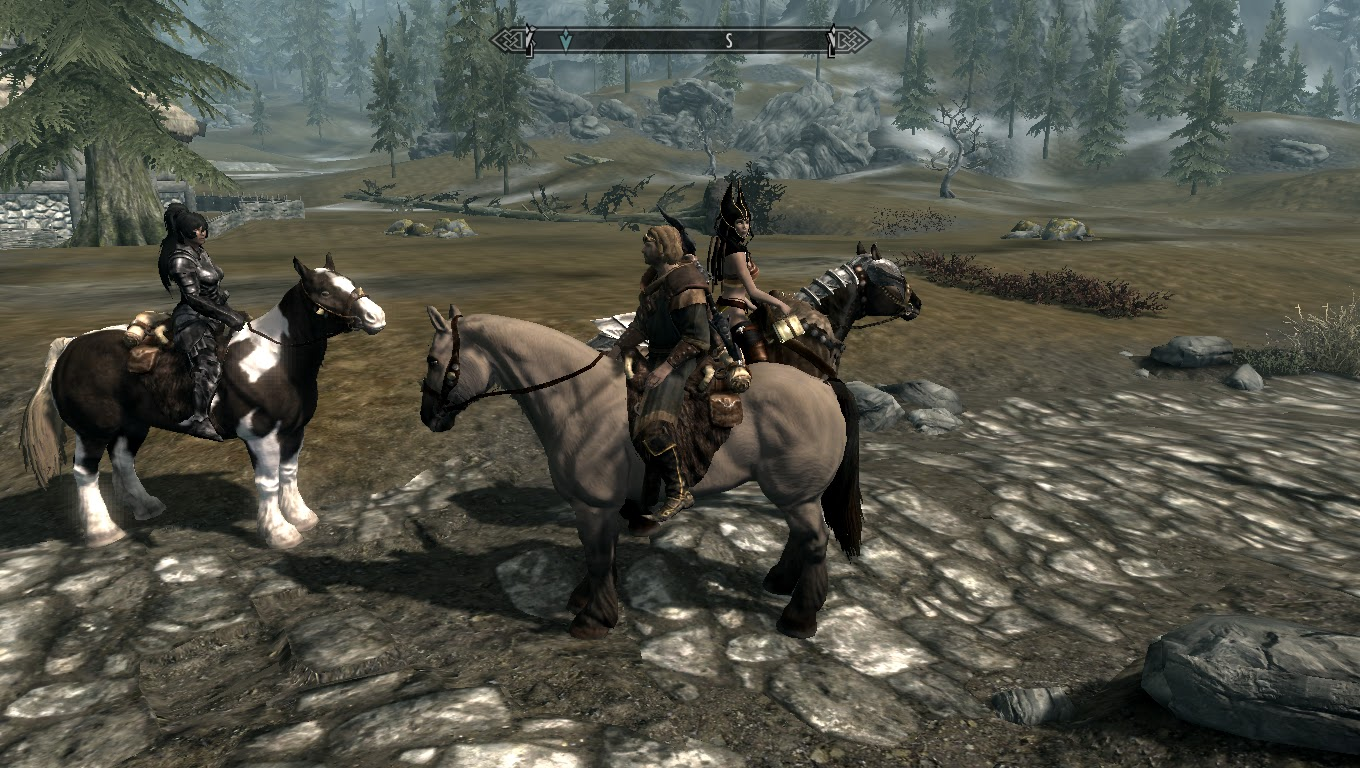 Skyrim Canvas: Mounted followers Horse's in skyrim mod by