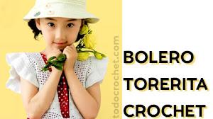 Patrones de bolero torerita para niñas a crochet