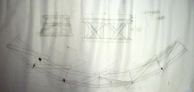 Template for wood trestle deck and supports