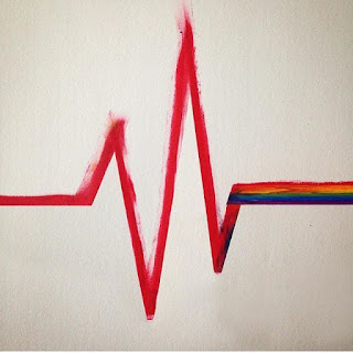 Pulse heartbeat - rainbow flatline