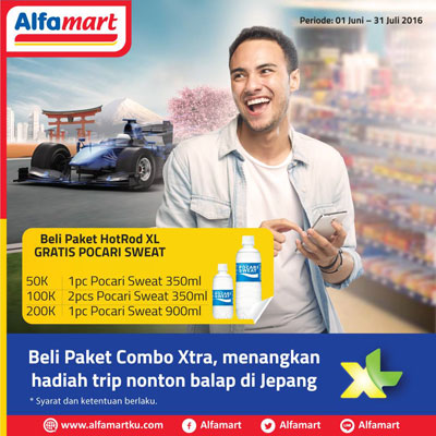 Beli Paket HotRod XL Gratis Pocari Sweat – Alfamart