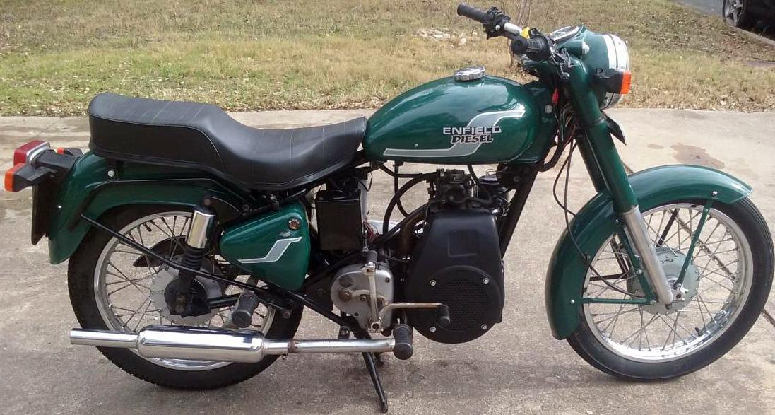 Enfield diesel motorcycle.