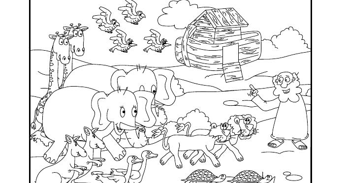 Dibujos Para Colorear Del Arca De Noe Para Imprimir: El Arca De Noe Para Colorear