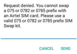 sim swap declined