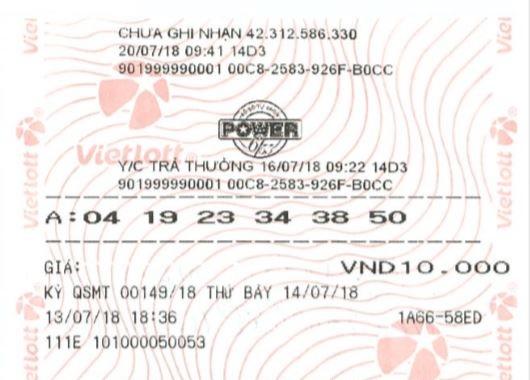 Chiếc vé trúng thưởng 47 tỷ đồng của anh xe ôm - Win2888vn