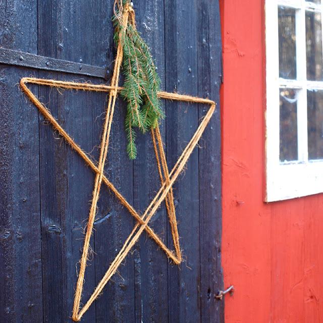 Nem julepynt - stjerne af reb