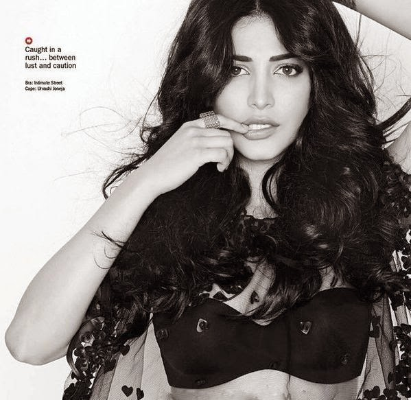 Actress Shruti Haasan Latest Hot Spicy PhotoShoot Gallery For Filmfare Magazine Gallery