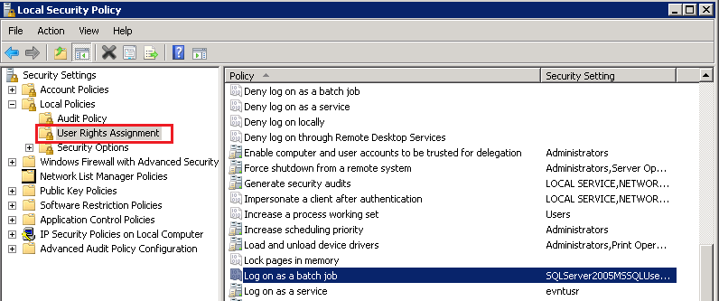 Set Logon as a batch job rights to User by Powershell, C#, Command Prompt