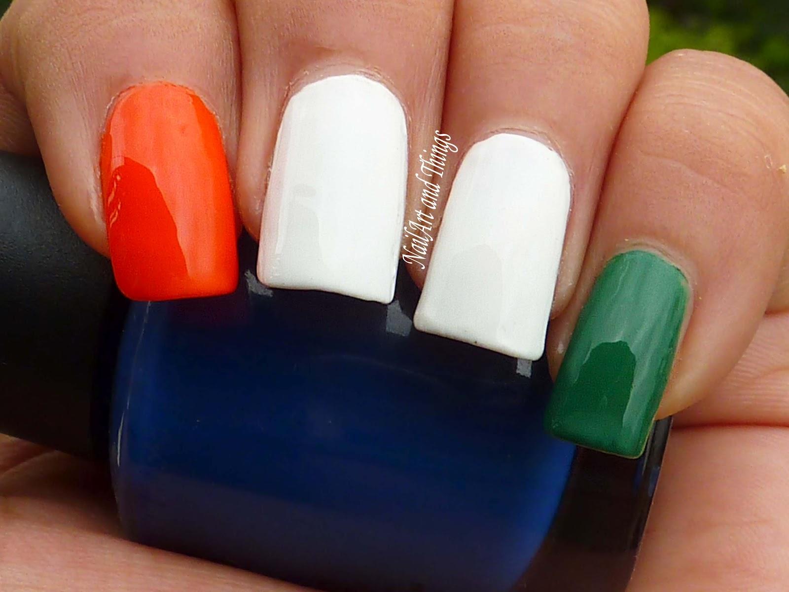 3 colour nail art