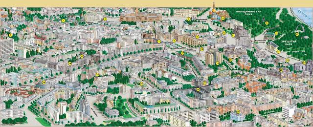 Mapa turístico de Kiev