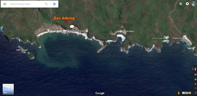 Lokasi Goa Pantai Jebring
