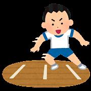 反復横跳びのイラスト(男の子)