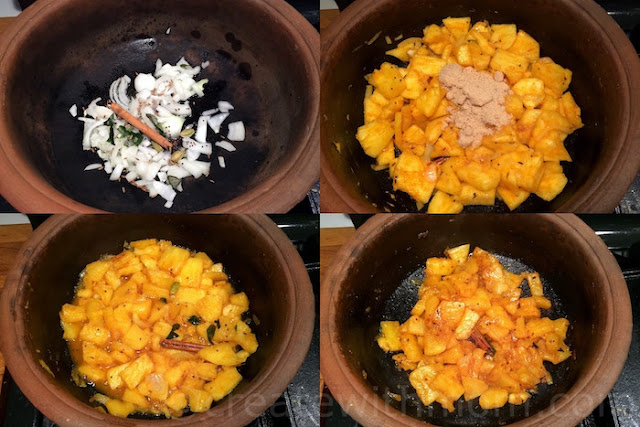 sweet and spicy pineapple curry