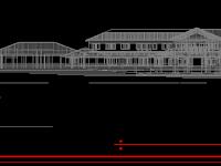 Rumah dan bangunan perspektif 2D, cad drawing house gratis