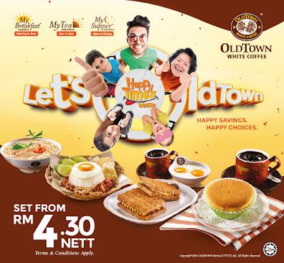 OLDTOWN breakfast tea supper set meal value deal promo