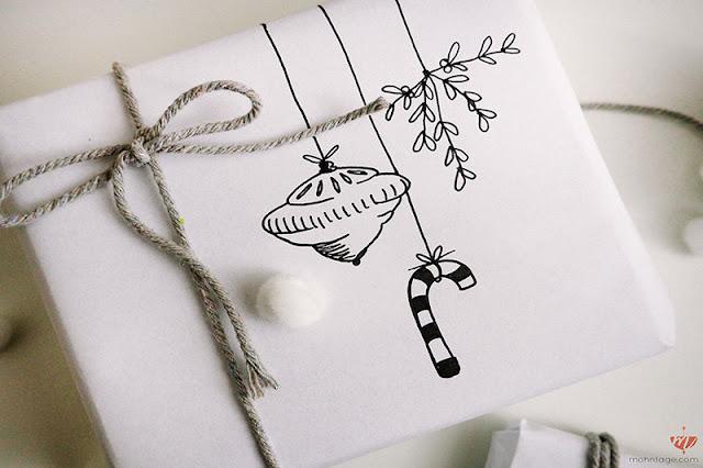 Geschenkpapier bemalen