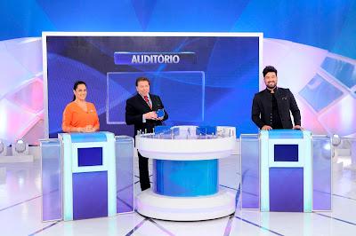 Silvia Abravanel, Silvio Santos e Kleiton Pedroso - Crédito: Lourival Ribeiro/SB
