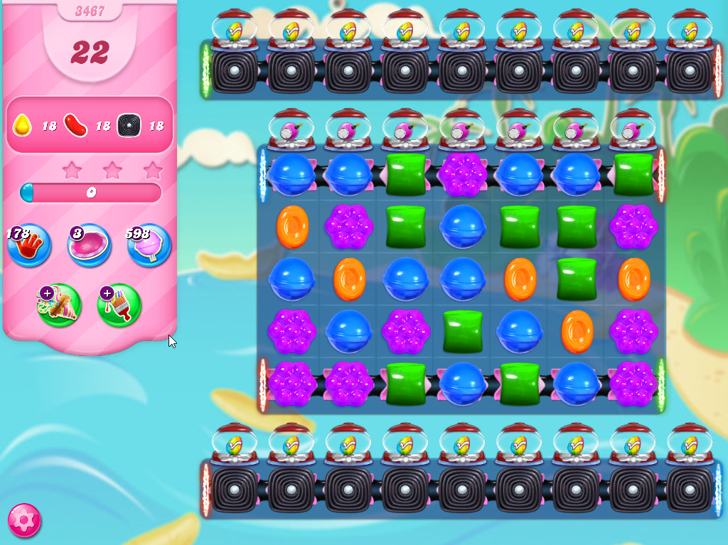 Candy Crush Saga level 3467