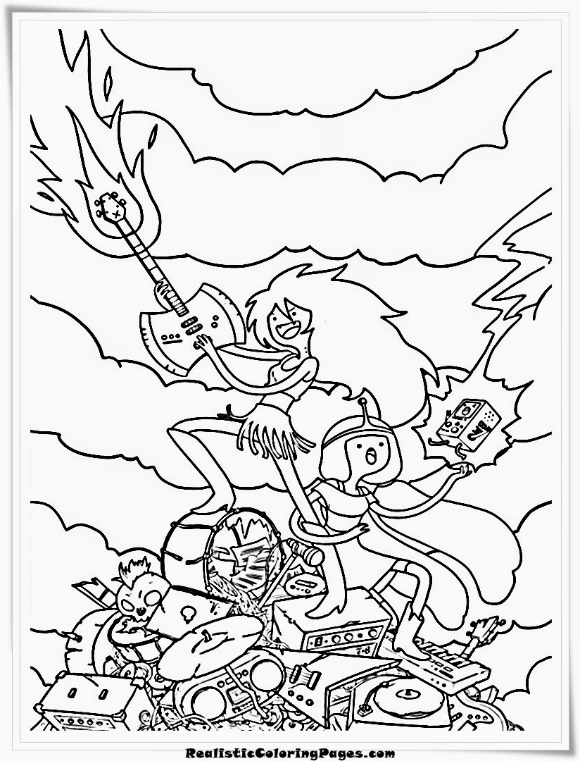 Adventure Time Printable Coloring Pages