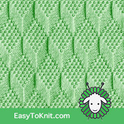 Knit Purl 53: Moss Diamond and Lozenge | Easy to knit #knittingstitches #knitpurl