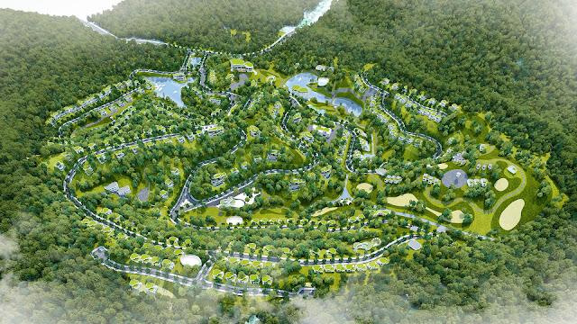Phối cảnh dự án Lâm Sơn Resort Hòa Bình