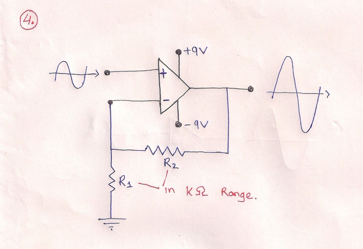 Circuit Diagram Of Non Inverting Amplifier Yamaha Pacifica Wiring Electronics Engineering For Gate And Ies Basic