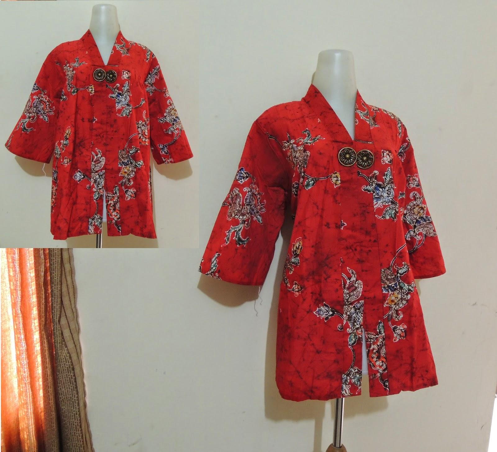 Batik Keris Warna Merah: Palastri Shop & Gabriella Shop: 2 Blus Wanita Bigsize