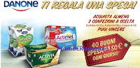 Logo Danone ti regala una spesa: vinci 640 buoni spesa da 50€