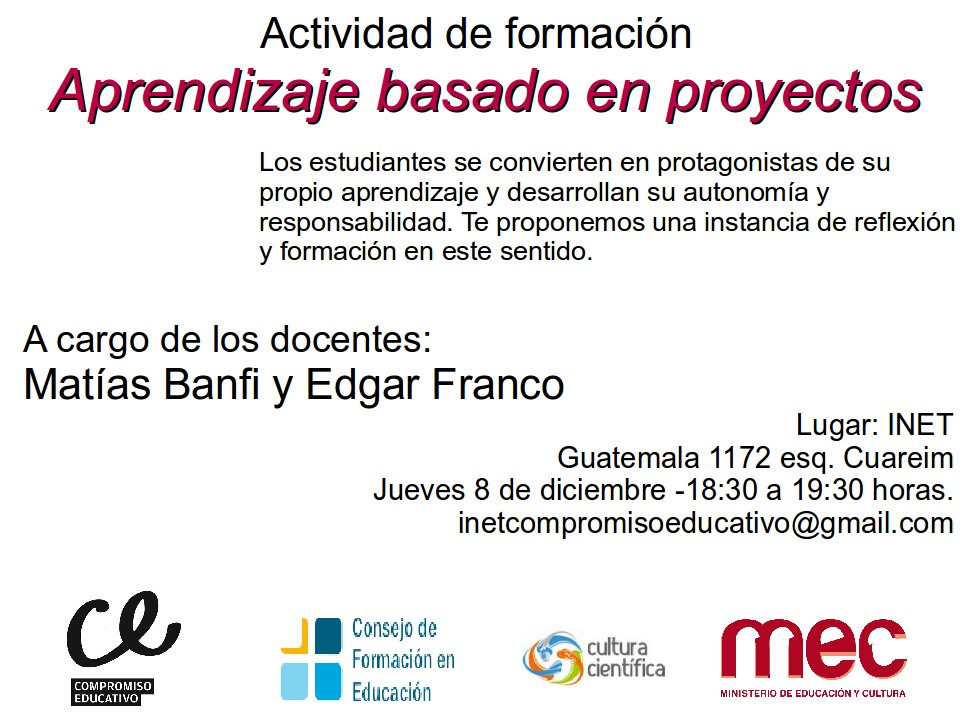 INET COMPROMISO EDUCATIVO: Invitación para estudiantes, egresados y ...