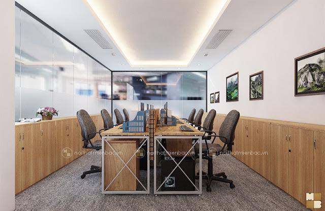 Thiết kế nội thất phòng làm việc nhỏ với cách bố trí nội thất chuyên nghiệp, tối giản mọi chi tiết trang trí nội thất rườm r