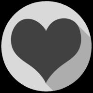 heart whiteout icon
