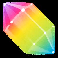 鉱石のイラスト(虹色)