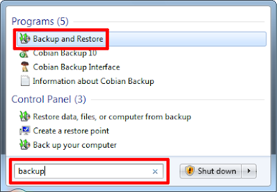 Backup Data Komputer Windows 7