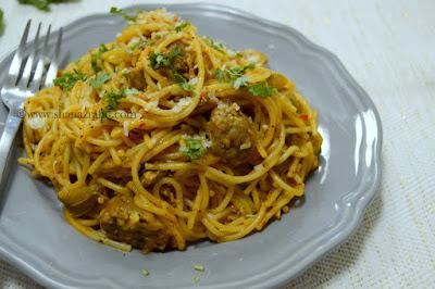 Meatball & Mushroom Spaghetti