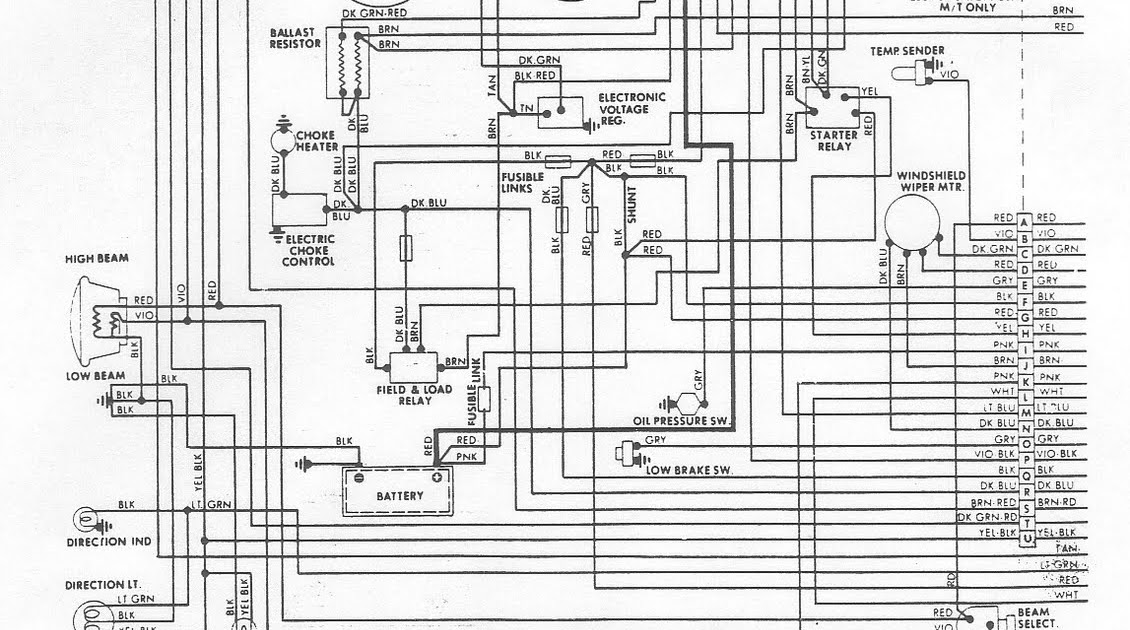 Wiring Diagram Electrical System Circuit 1976 Dodge Aspen