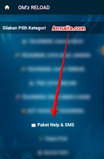 Dilanjutkan dengan memilih menu Paket Nelpon SMS