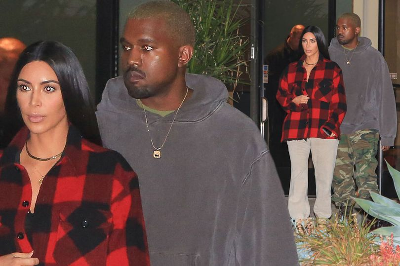 PAY-MAIN-Kim-Kardashian-wearing-plaid-jacket-and-Kanye-West-visiting-friends-on-friday-night-in-Beverly-Hills