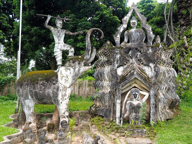Statue in Buddha Park, Vientiane, Laos