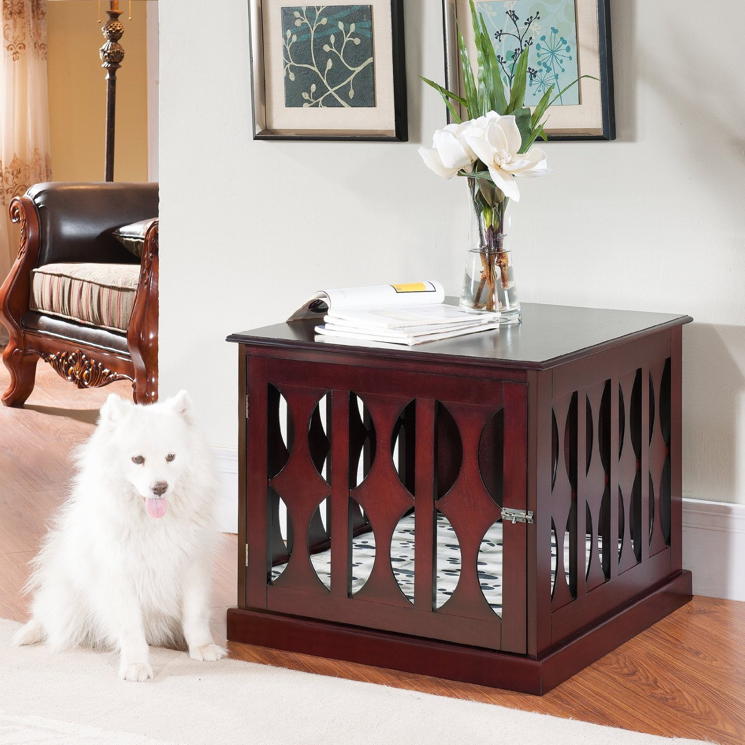 dog crate york dog cage york decorative wood dog crate that looks like furniture end - Decorative Dog Crates