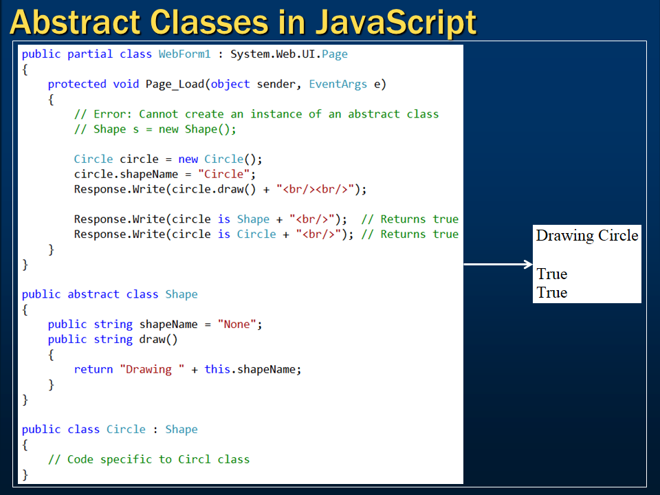 Sql server,  net and c# video tutorial: Abstract classes in