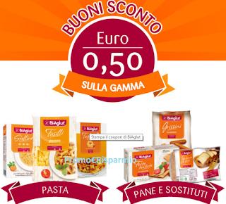 Logo Buoni sconto Biaglut per pasta, pane e biscotti