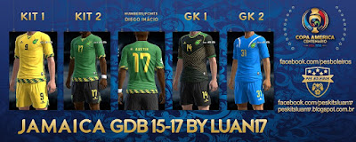 Kits Jamaica, Copa America 2016 Pes 2013 By Luan17