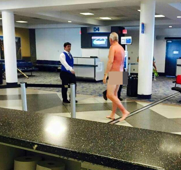 Nude at the airport — img 8
