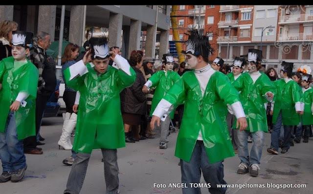 Disfraz de Frankenstein con bolsa de basura