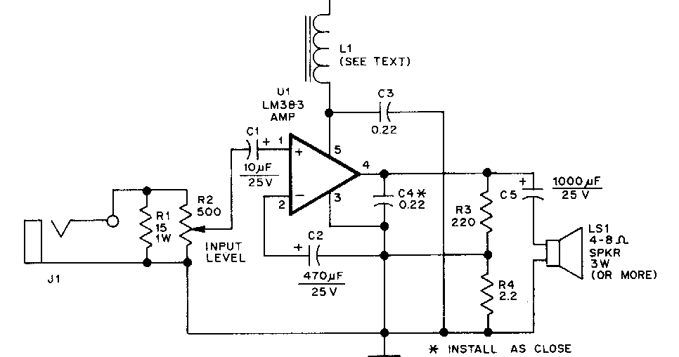simple 300w subwoofer power amplifier wiring circuit diagram super