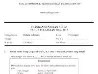 Soal UKK/ UAS Kelas 4 B. Indonesia Semester 2/ Genap