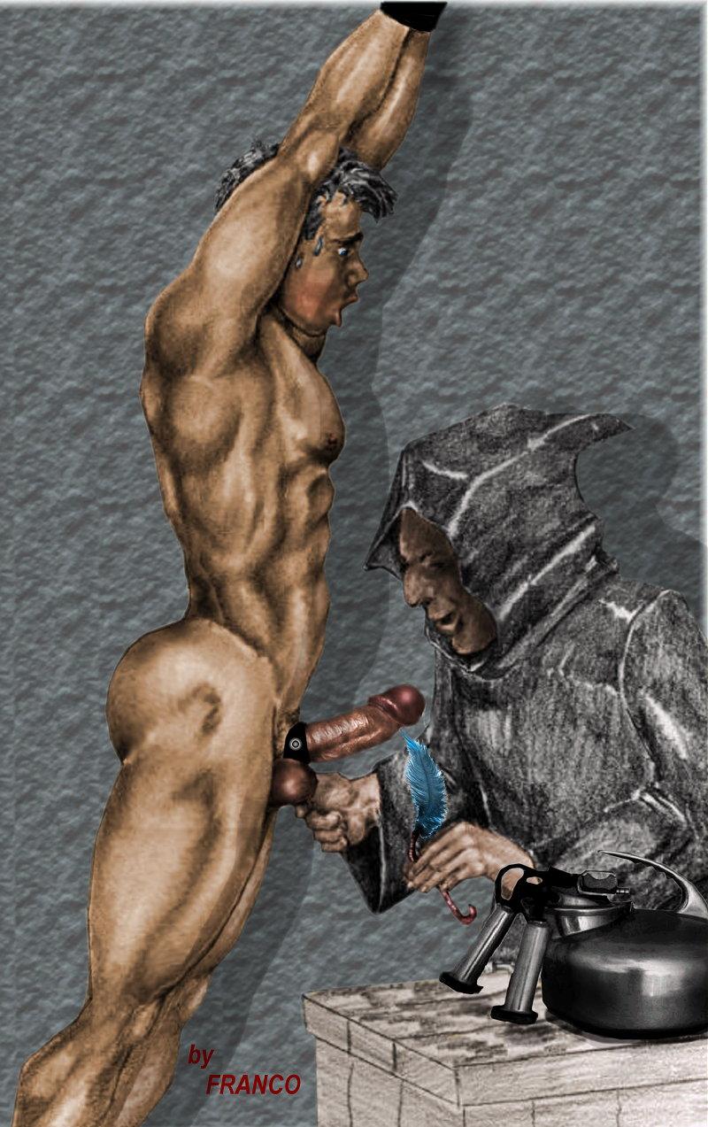 Erotic drawings of marc blanton nymphs and satyr - 3 part 4