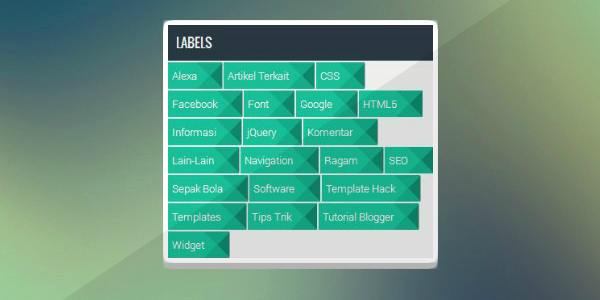 Cara Membuat Widget Label Cloud Flat UI Hijau Keren