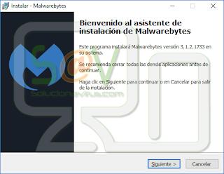 Instalación Malwarebytes