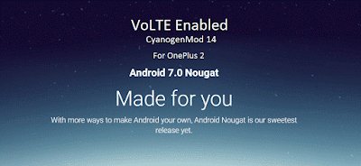 VoLTE CM 14 on OnePlus 2